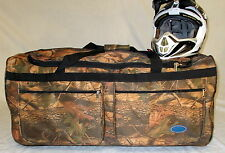 MOTORCYCLE ATV XL ROLLER BAG BROWN CAMO WHEELIE BAG