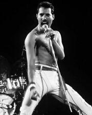 FREDDIE MERCURY PHOTO QUEEN 1984 BLACK WHITE CLOSEUP IMAGE COLLECTIBLE RARE GEM