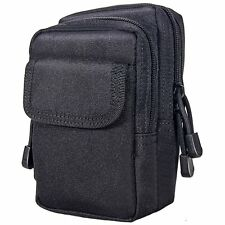 Tactical Military Molle Pouch Multi-Purpose Compact Nylon Outdoor Bag Black