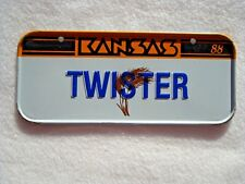 1988 KANSAS Post Cereal License Plate # TWISTER
