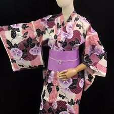 浴衣 Yukata japonais - Floral  - Import direct Japon 1410