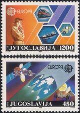 JUGOSLAVIA 1988 EUROPA/comunicazioni/Treno/spedizione/trasporto/Satellite 2 V (n45226)