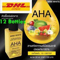 12X MIMI WHITE AHA AUTHENTIC Whitening Booster Body Serum Bleaching Brightening