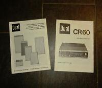 2 Dual Bedienungsanleitungen Operating Instructions CR60 + Lautsprecherboxen TOP