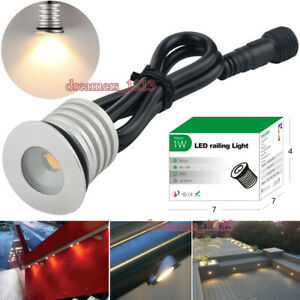 1W Arc-surface LED Staircase Lights IP67 Waterproof Mini Outdoor Handrail Lamps