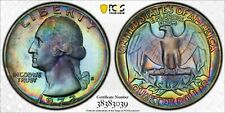 1972-S Washington Quarter 25C Cents PCGS PR67. RARE MONSTER TONING! - A41