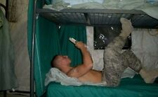 Shirtless Male Beefcake Military Man Laying Down Muscular Dude PHOTO 4X6 D732