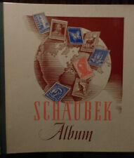 Schaubek Vordruckalbum Europa 1958 mit vielen Marken vor 1945 - Alle Bilder