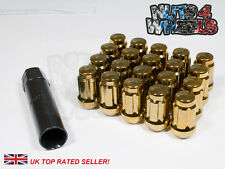 Gold Spline Wheel Nuts x 20 12x1.5 Fits Toyota Prius Avensis Celica GT4 Carina