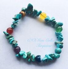 Gemstone Crystal Turquoise Chakra Beads Bracelet Birthstone Sagittarius Nov De C