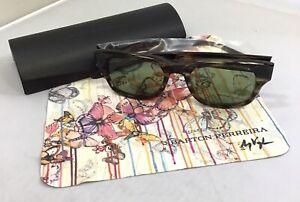 Unisex Barton Perreira Striped Havana Tortoise Shell Sunglasses MSRP $419.00