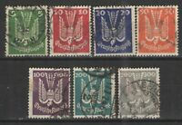 Germany - Wiemar Era 1924 Sc# C20-C26 Used VG -Scarce used set 1924 Airmails