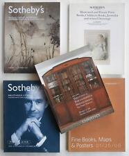 5 Auction Catalogs Including Rare Books & Manuscripts Sales w/ Children's & Art