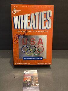 SHANNON MILLER SINGLE SIGNED 1996 WHEATIES OLYMPICS 18 OZ BOX~JSA COA HOLOGRAM