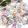 New 50/100/500pcs Mix Flowers Wood Buttons 17mm Sewing Craft Mix Lots WB06
