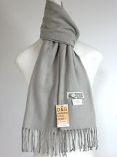 DG Men's Winter Scarf Solid Light-Gray Cashmere-Feel Warm Soft Unisex