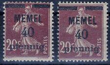 === MEMEL Mi. 22 a+b **, Kat. 46€ ===
