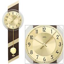 Ams 7412 Horloge murale Quartz avec pendule Boîtier en bois À du Salon