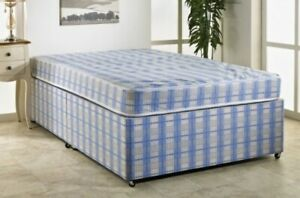 BUDGET DIVAN BED + MATTRESS WITH FREE DELIVERY CHEAPEST ON EBAY