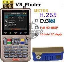 New V8 Finder Digital Sat Finder FTA DVB-S/S2/S2X 1080P Full HD Satellite Finder
