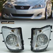 For 06-09 Lexus IS250 350 Replacement Fog lights Housing Assembly Clear Pair L/R