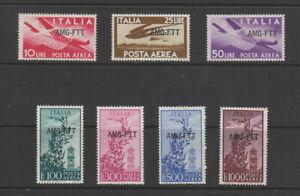 Trieste Zone A , 1949-52 , Air Set MNH, SG 115- 121