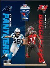 NFL LONDON GAME SERIES PROGRAM CAROLINA PANTHERS TAMPA BAY BUCCANEERS OFFICIAL