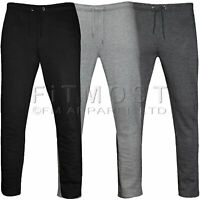 Mens Fleece Open Hem Jogging Bottoms Track Pants Casual Joggers Trousers S-5XL