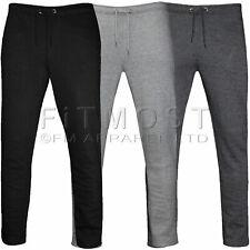 Mens Fleece Open Hem Jogging Bottoms Track Pants Casual Joggers Trousers S-5XL