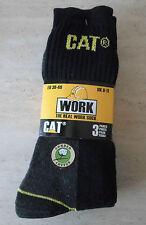 3 PAIRS CATERPILLAR CAT REAL WORK SOCKS TRUCKER BUILDER FARM HIKER HILL WALKER