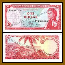East Caribbean Sates 1 Dollar, ND 1965 P13f Sig #10 Queen Elizabeth II Unc