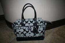 NWOT Authentic Coach Legacy Candace Signature Black Purse Bag 24203 $348