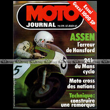 MOTO JOURNAL N°376 TAKAZUMI KATAYAMA HONDA CB 900 F OSSA 350 GUZZI SP 1000 1978