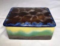 Vintage Made in Czechoslovakia  Porcelain cigarette Box/Trinket Box