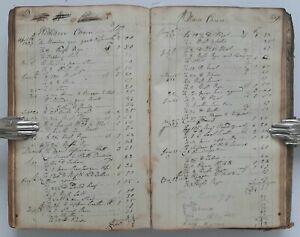 ANTIQUE HANDWRITTEN COBBLER LEDGER New Milford Litchfield County CT RARE 1802