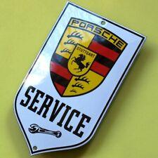 PORSCHE Stuttgart Tür Emailschild MAKELLOS Carrera 911 GT3 Targa Cayman SERVICE
