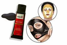 Charcoal Blackhead Remover Peel Off Cleaning Black & 5 x Collagen Gold Face Mask