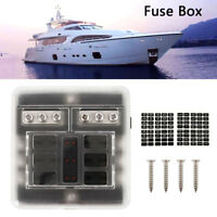 6 Way Blade Fuse Holder Box Case 12V/24V Block RV Van Car Truck Boat Marine Bus