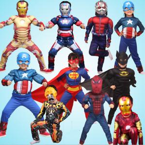 Boys Superhero Costume Marvel Avengers Cosplay Halloween Children Fancy Dress