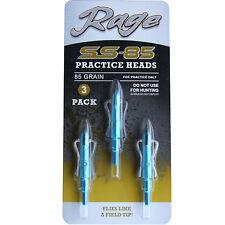 Rage Practice Heads 2-Blade Ss-85 85 grain 3 Pack #01168