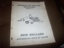 New Holland Model 77 Automatic Hay Baler Operator's Manual