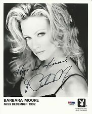 Barbara Moore Miss December 1992 Signed 8x10 Photo PSA/DNA S99310