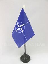 DRAPEAU DE TABLE OTAN 15x10cm - PETIT DRAPEAUX DE BUREAU DE L'OTAN 10 x 15 cm po