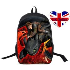 UK Kid Cartoon Backpack How to Train Your Dragon School Bag Travel Knapsack Gift