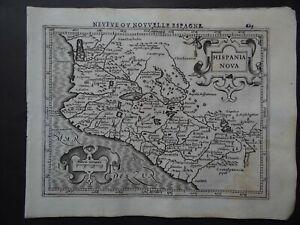 1608 HONDIUS Mercator  Atlas map  MEXICO - Hispania Nova - Nouvelle Espagne