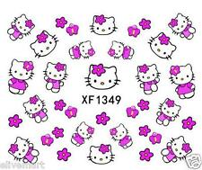 Very Cute Nail Art Stickers Manicure Pink HKitty Nail Decals