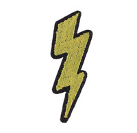 Lightning Thunder Bolt Flash Patch Embroidery Cloth Patches Badge Iron Sew