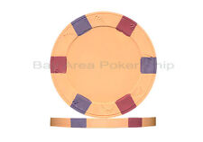 25 x New Real Clay Poker 10g Chips Orange + 1 Paulson Top Hat & Cane $100