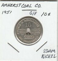 LAM(Z) Token - Amherst Coal Company - G/F 10 Cents - 1951 - 23 MM Nickel