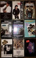 LOT OF 9 MICHAEL JACKSON CASSETTE TAPES USA THRILLER BAD DANGEROUS JACKSON 5 WOW